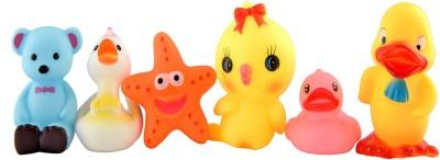 Toyvala Cute Baby Bath Toy Set of 6, For Boys & Girls (Multicolor) Bath Toy(Multicolor)