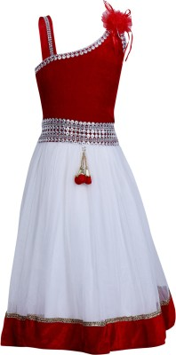 Crazeis Girls Party Dress(Red)