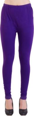 Ziva Fashion Churidar  Legging(Purple, Solid)