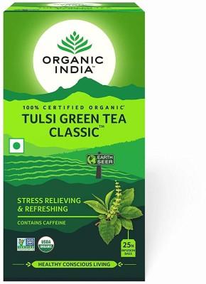 Organic India Classic Tulsi Green Tea Bags Box(43.5)