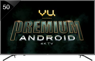 Vu Premium Android 126cm (50 inch) Ultra HD (4K) LED Smart TV(50-OA) (Vu)  Buy Online