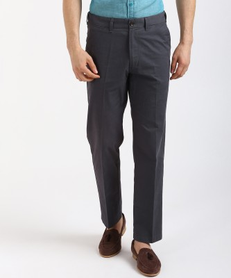 MARKS & SPENCER Regular Fit Men Grey Trousers at flipkart