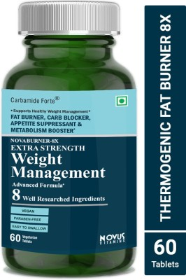 Carbamide Forte Thermogenic Fat Burner with Garcina Cambogia, Green Coffee for Weight Management(60 No)