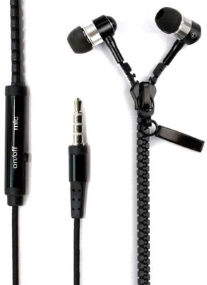 Cospex Universal Zipper Style of 3.5mm Jack Wired Headset(Multicolor, In the Ear)