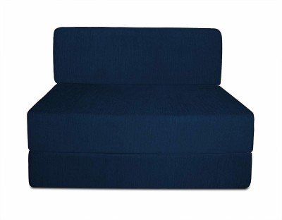 Aart Store Sofa Cum Bed 3x6 Feet One Seater Sleeps & Comfortably Mechanism Type Fold Out Sofa Blue Color Single Sofa Bed(Finish Color - Blue Mechanism Type - Fold Out)