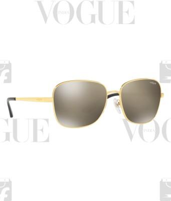 Vogue Retro Square Sunglasses(Golden)
