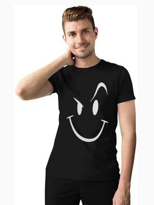 Roamdeal.com Printed Men Round Neck Black T-Shirt