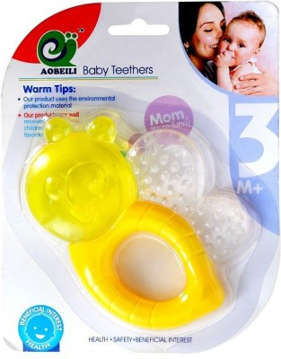 HuddiBABA Baby love Baby Teether Silicon Dental Care Teether & Fruit Teether(Yellow)