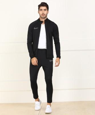 Nike Solid Men Track Suit