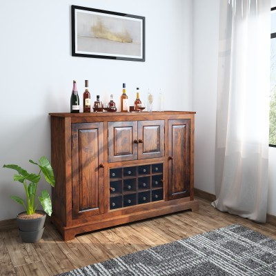 InLiving Solid Wood Bar Cabinet(Finish Color - Walnut)
