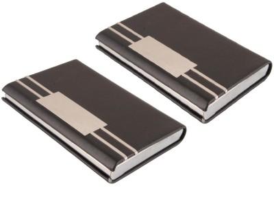 Durga Enterprises Atm, Visiting , Credit Card Holder Genuine Accessory 10 Card Holder(Set of 2, Black)
