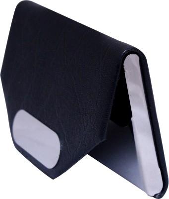 Durga Enterprises PURE STEEL LEATHER 20 Card Holder(Set of 1, Black)