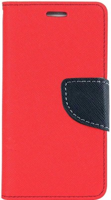 Avzax Flip Cover for Motorola Moto E4 Plus(Red, Cases with Holder)