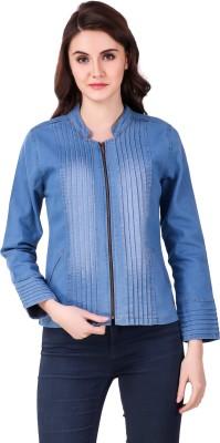 Clo Clu Full Sleeve Self Design Women Denim Jacket
