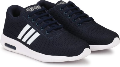 Asian Boys Lace Running Shoes Dark Blue