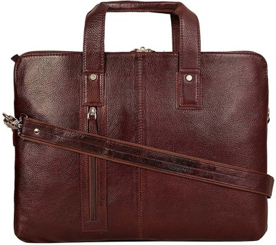 C Comfort 14 inch Expandable Laptop Messenger Bag(Brown)