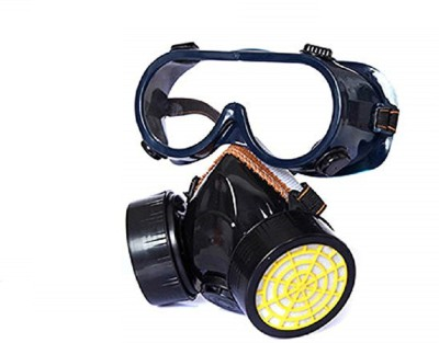 Futurekart Industrial Gas Chemical Anti-Dust Paint Respirator Mask Glasses Goggles Set Mask and Respirator