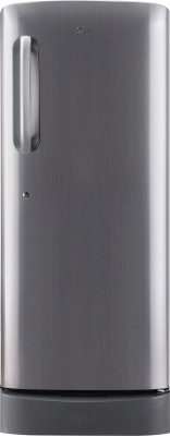 LG 235 L Direct Cool Single Door 5 Star Refrigerator with Base Drawer(Shiny Steel, GL-D241APZY)