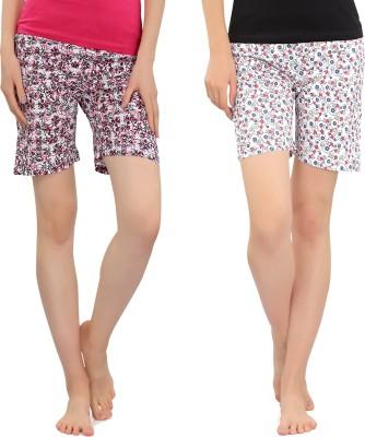 Zebu Printed Women Multicolor Regular Shorts