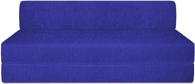 Aart Store Sofa Cum Bed 5x6 Feet Three Seater Sleeps & Comfortably Fold Out Sofa Royal Blue Color Perfect For Guests Single Sofa Bed(Finish Color - Royal Blue Mechanism Type - Fold Out)
