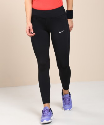 Nike Solid Women's Black Tights