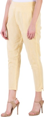 NYPA Regular Fit Women Yellow Trousers