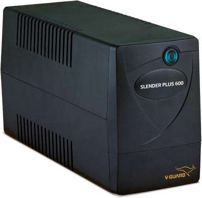 V-Guard Slender Plus 600 For 1 Monitor (43 cm) and 1 Printer UPS