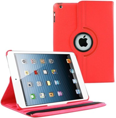 Beebox Flip Cover for Apple iPad 2 Ipad 3 Ipad 4 Degree Rotating Leather Case Cover(Red)