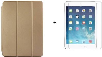 cellshephard Flip Cover for apple Ipad air 2(Gold, Dual Protection)