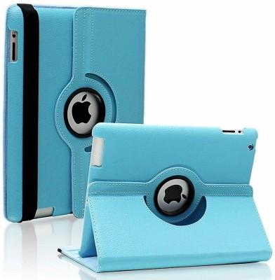 Beebox Flip Cover for Apple iPad 2 Ipad 3 Ipad 4 Degree Rotating Leather Case Cover(Sky Blue)