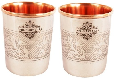 IndianArtVilla IAV-CC-10-106-2 Glass Set(Copper, 300 ml, Brown, Pack of 2)