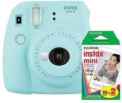 Fujifilm Instax Mini 9 Ice Blue with 20 Shots film Instant Camera(Blue)