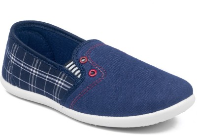 Asian Boys Slip on Loafers Blue Asian Casual Shoes