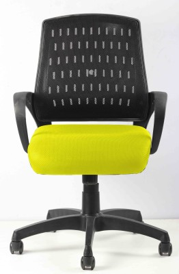 SEAT CHACHA Fabric Office Arm Chair(Yellow)
