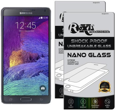 Roxel Nano Glass for Samsung Galaxy Note 4 (Charcoal Black, 32 GB) (3 GB RAM)(Pack of 2)