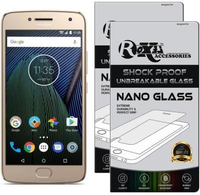 Roxel Nano Glass for Moto G5 Plus (Fine Gold, 32 GB) (4 GB RAM)(Pack of 2)