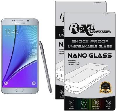 Roxel Nano Glass for Samsung Galaxy Note 5 (Dual Sim) (Silver Titanium, 32 GB) (4 GB RAM)(Pack of 2)
