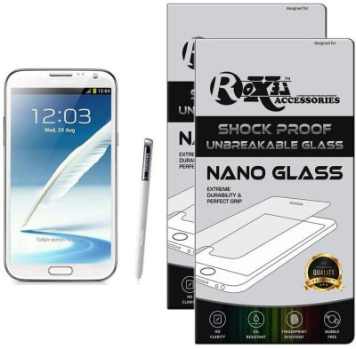 Roxel Nano Glass for Samsung Galaxy Note 2 GT-N7100 (Marble White)(Pack of 2)