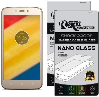 Roxel Nano Glass for Moto C Plus (Fine Gold, 16 GB) (2 GB RAM)(Pack of 2)