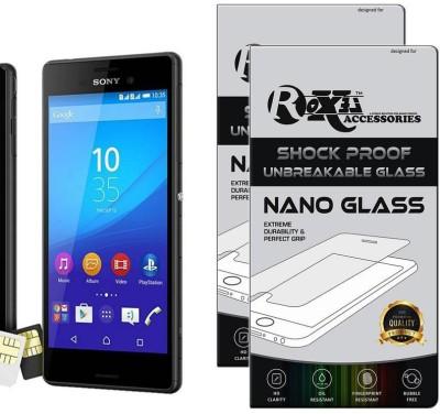 Roxel Nano Glass for Sony Xperia M4 Aqua Dual (Black, 16 GB) (2 GB RAM)(Pack of 2)