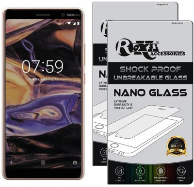 Roxel Nano Glass for Nokia 7 Plus (White & Copper, 64 GB) (4 GB RAM)(Pack of 2)