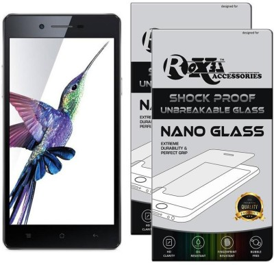 Roxel Nano Glass for OPPO Neo 7 4G (Black, 16 GB) (1 GB RAM)(Pack of 2)