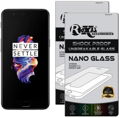 Roxel Nano Glass for OnePlus 5 (Slate Gray 8GB RAM + 128GB Memory)(Pack of 2)