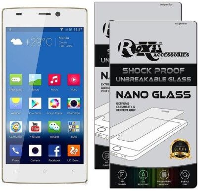 Roxel Nano Glass for Gionee Elife S5.5 (White)(Pack of 2)