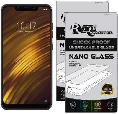 Roxel Nano Glass for POCO F1 by Xiaomi (Rosso Red, 64 GB) (6 GB RAM)(Pack of 2)