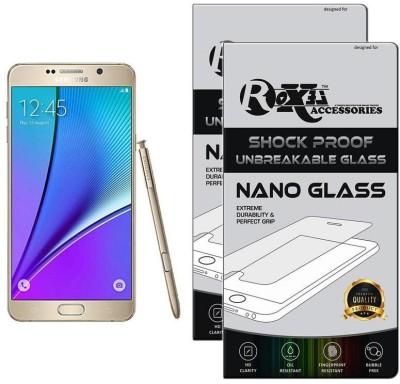 Roxel Nano Glass for Samsung Galaxy Note 5 64GB Single Sim - Gold (Gold, 64 GB) (4 GB RAM)(Pack of 2)