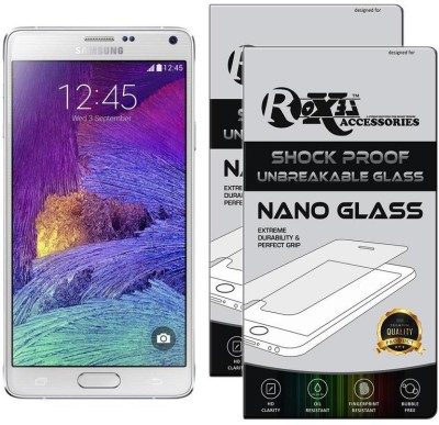 Roxel Nano Glass for Samsung Galaxy Note 4 (Frost White, 32 GB) (3 GB RAM)(Pack of 2)