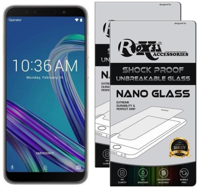 Roxel Nano Glass for Asus Zenfone Max Pro M1 (Grey, 64 GB) (6 GB RAM)(Pack of 2)
