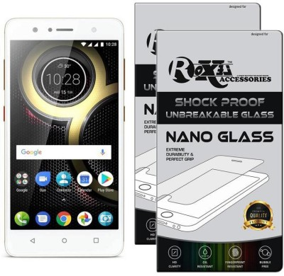 Roxel Nano Glass for Lenovo K8 (Fine Gold, 32 GB) (3 GB RAM)(Pack of 2)