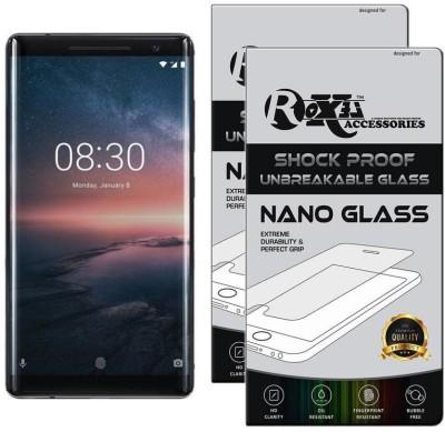 Roxel Nano Glass for Nokia 8 Sirocco (Black, 128 GB) (6 GB RAM)#OnlyOnFlipkart(Pack of 2)